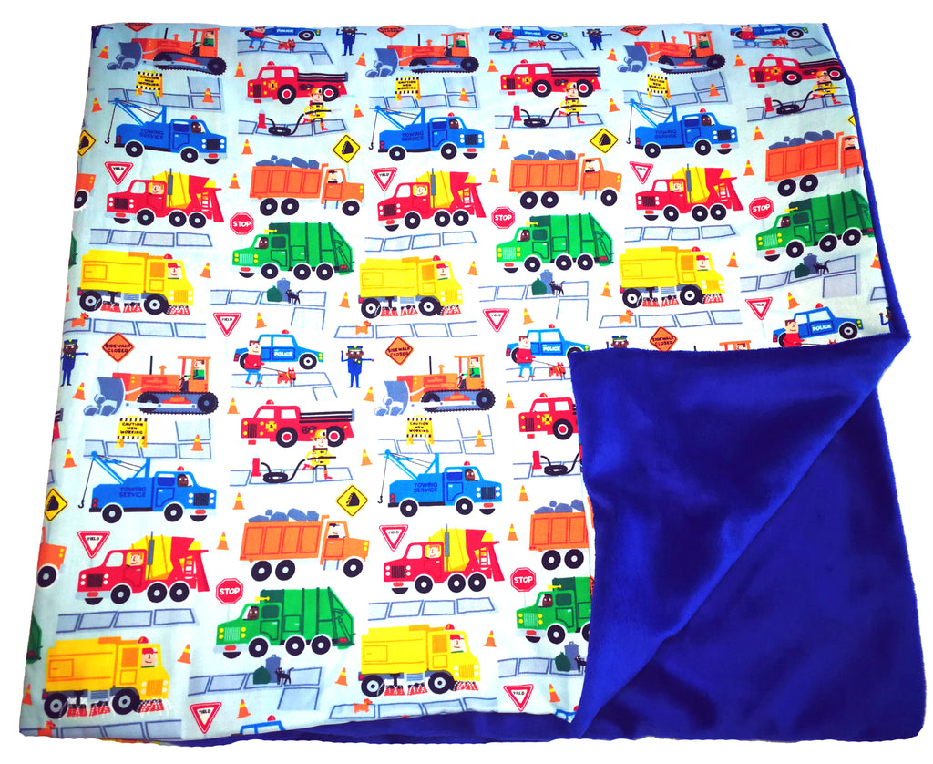 Weighted Throw Blanket For Kids | Choose 4 6 or 8 lbs | Keep on Truckin