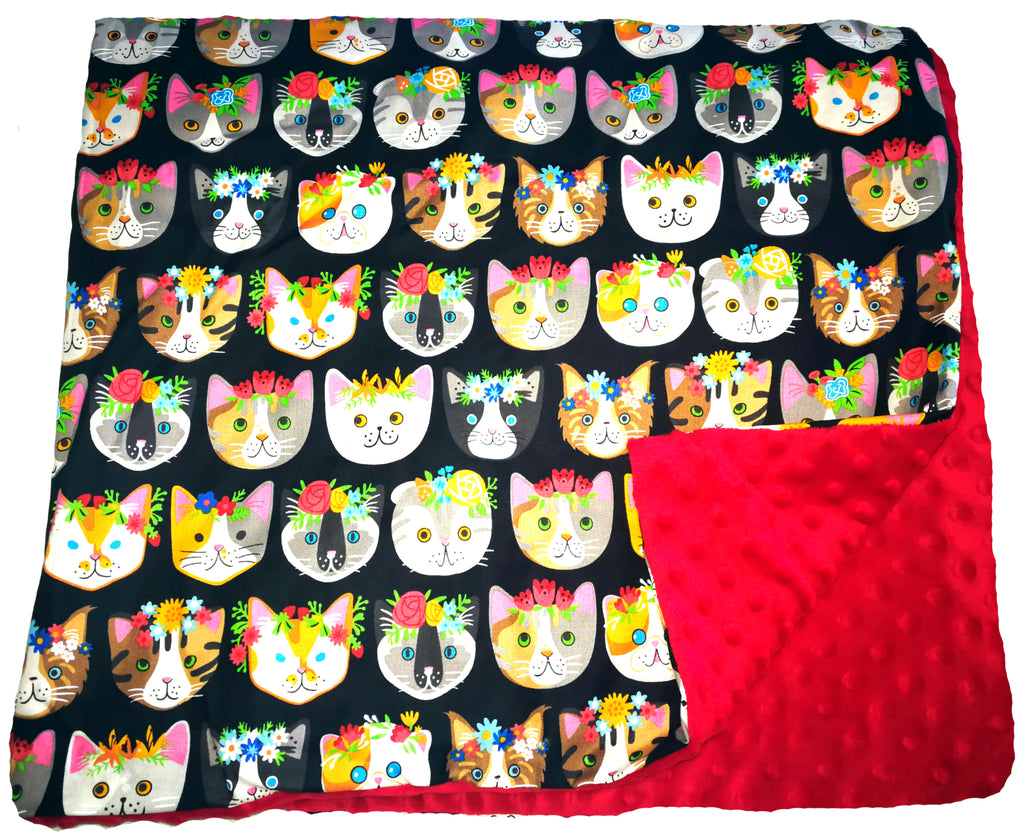 "Weighted Throw Blanket 48"" x 36"" & 4 6 or 8 lbs - Meow Mix"