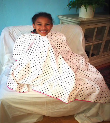 Weighted Throw Blanket - Choose 4 6 or 8 lbs - Polka Dots On Pink