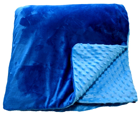 Weighted Throw Blanket For Kids | Choose 4 6 or 8 lbs | True Blue