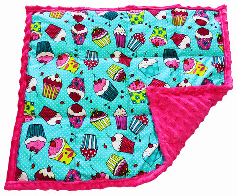 Weighted Lap Pad For Kids | Lap Blanket For Toddlers | 3 lbs Cupcakes