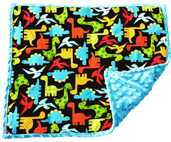 Weighted Lap Pad | Weighted Sensory Lap Blanket | 5 lbs - Neon Dinosaurs