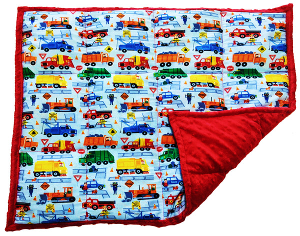 Weighted Lap Pad For Adults & Kids | 7 lbs Lap Blanket | Keep On Truckin