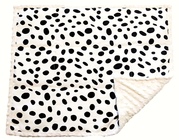 Weighted Lap Pad For Adults & Kids | 7 lbs Lap Blanket | Snow Leopard