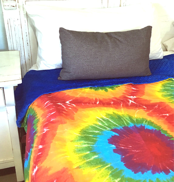 Weighted Blanket For Kids & Adults by ReachTherapy Solutions | 7 10 12 or 15 lbs | Feeling Groovy