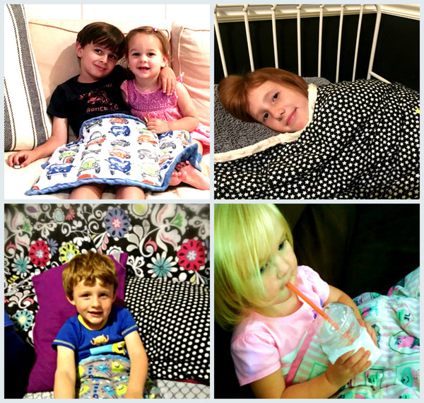"Weighted Throw Blanket For Kids | 48"" x 36"" & 4 6 or 8 lbs 