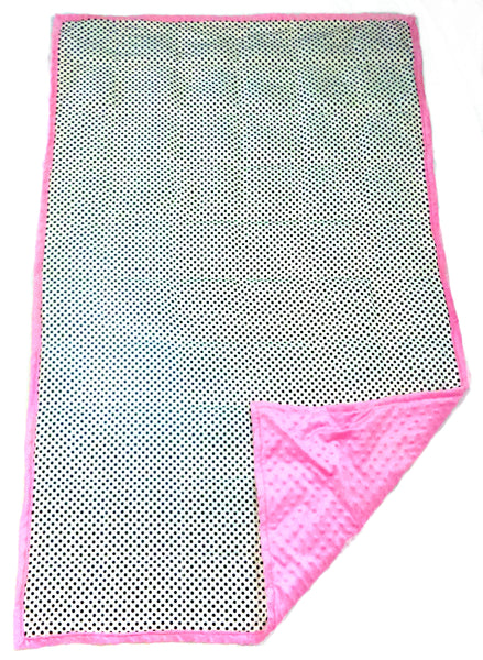 Weighted Blanket For Kids & Adults | Choose 7 10 12 or 15 lbs | Polka Dots On Pink