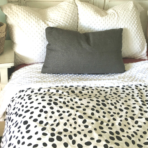 Weighted Sensory Blanket - Duvet Cover & Insert 7 10 12 or 15 lbs Snow Leopard