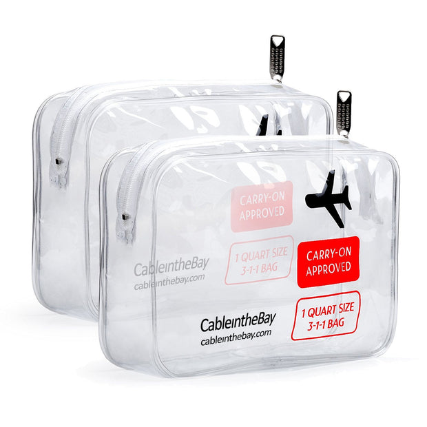 TSA Approved Clear Travel Toiletry Bag (2PACK)