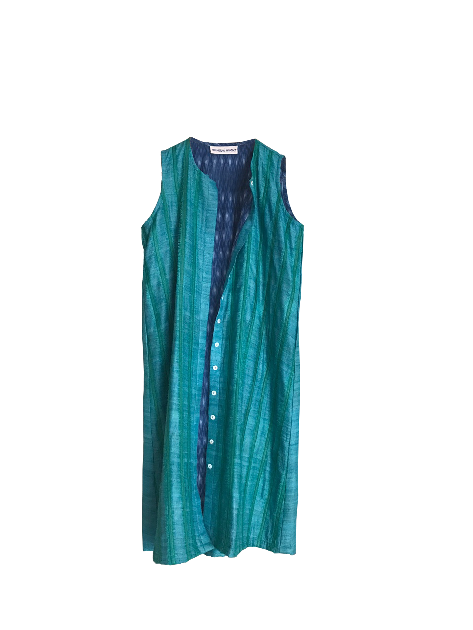Blue Fringe Tunic Dress
