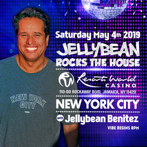Saturday May 4th Jellybean Rocks The House at Resorts World Casino in Queens, NY