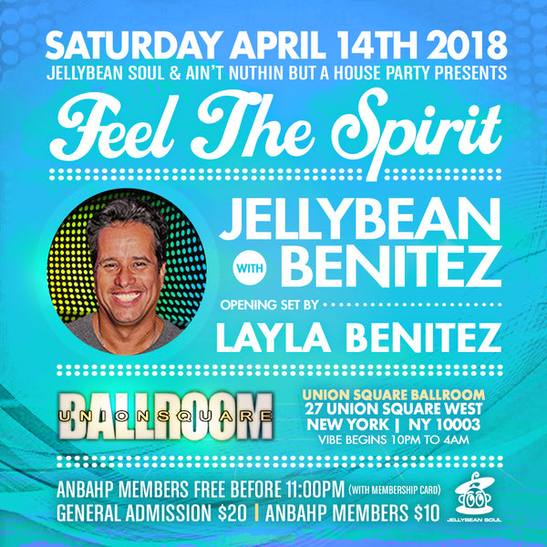 Jellybean Benitez in NYC ~ Saturday April 14th ~ Last Chance for Reduced Advance Tickets