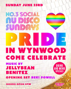 Sunday June 23rd  Nu Disco Sundays with Jellybean Benitez Wynwood Pride Edition at No 3 Social