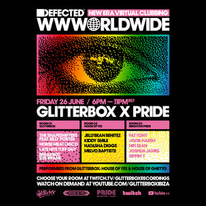 Friday June 26th 2020 Glitterbox Pride 2020 with Jellybean Benitez - Set Time 3:30pm Est