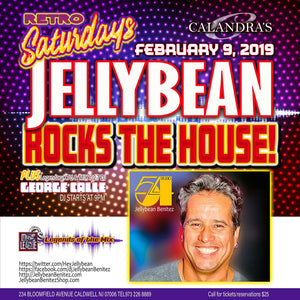2/9 Retro Saturdays with JELLYBEAN BENITEZ at Calandra's Caldwell, NJ