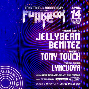 Sunday April 14th Jellybean Benitez at Funkbox at Chelsea Music Hall NYC