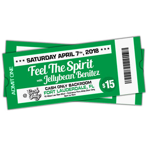 4/7 Feel The Spirit with Jellybean Benitez at Cash Only ~ the Backroom - Fort Lauderdale ~ $15