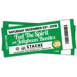 12/22 Feel The Spirit with Jellybean Benitez at Stache Fort Lauderdale $20