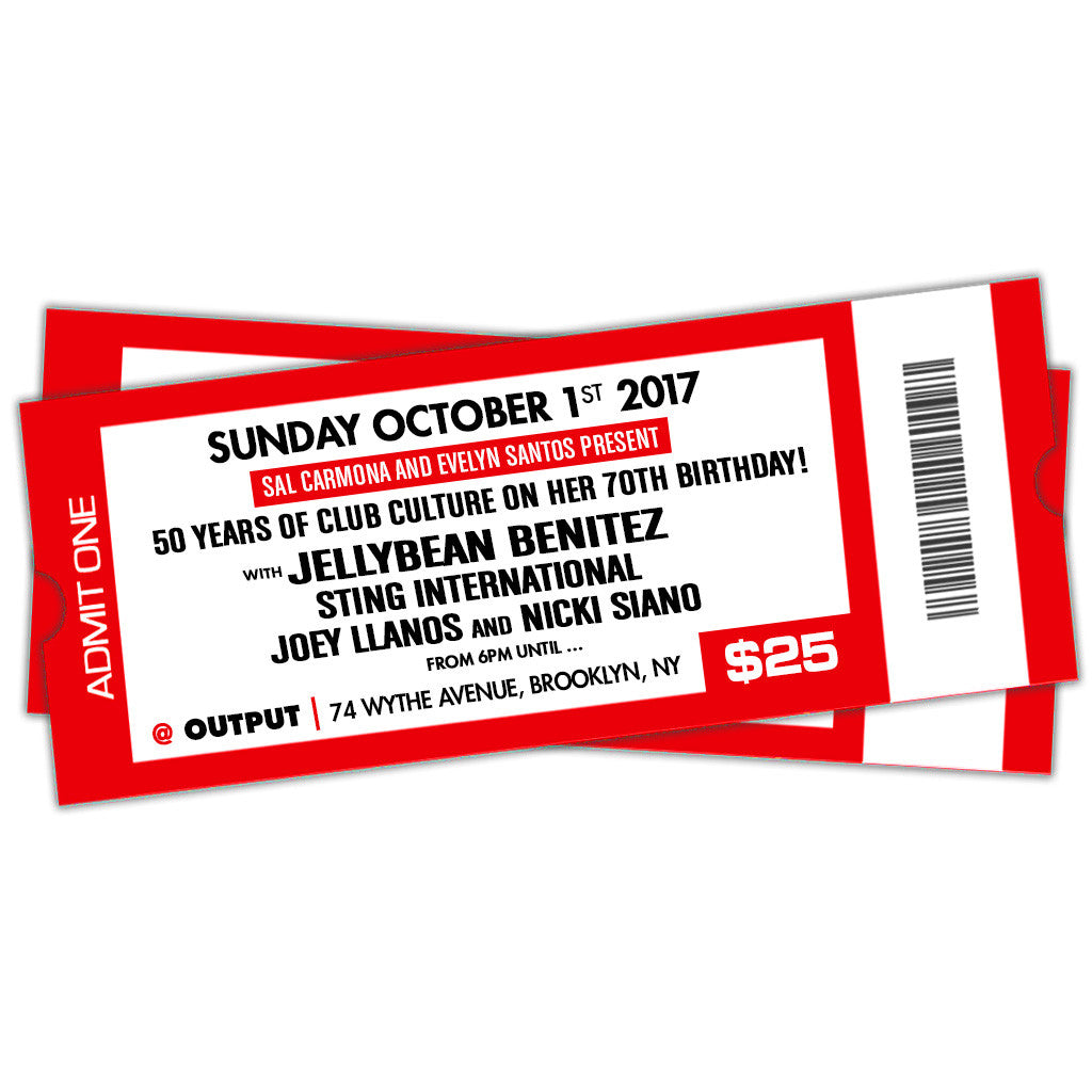 10/1 50 Years of Club Culture with Jellybean Benitez, Sting International, Joey Llanos and Nicki  ~ General Admission