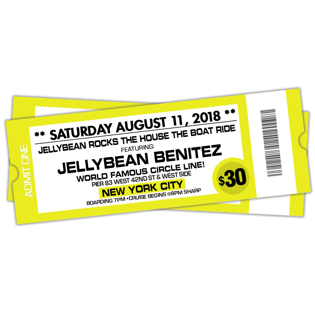8/11 Jellybean Rocks The House The Boat Ride ~ Early Bird Ticket