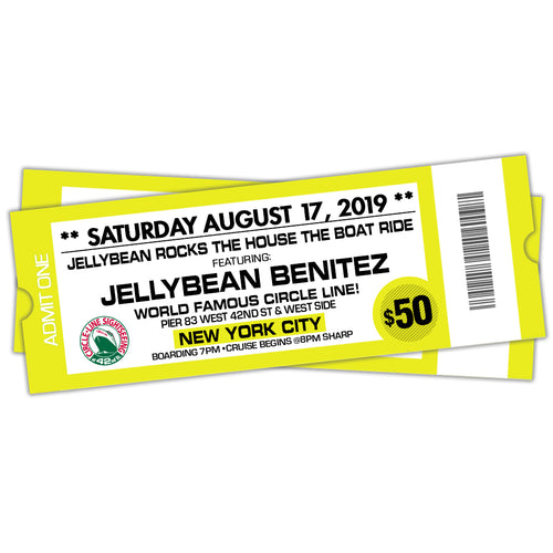 8/17 Jellybean Rocks The House The Boat Ride $50