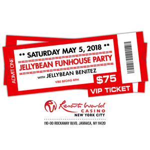 "5/5 JELLYBEAN FUNHOUSE PARTY with Jellybean Benitez at Resorts World Casino NYC ~ Early Bird ""VIP"" Admission $75.00"