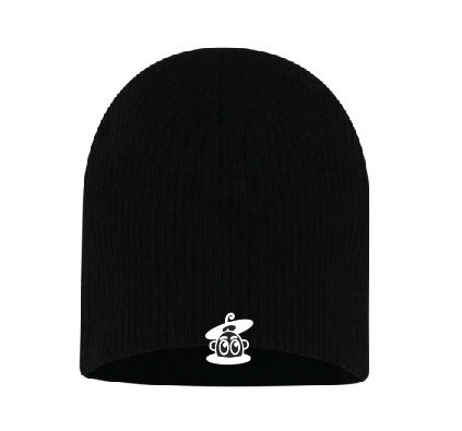 Jellybean Soul  Black Beanie with White Embroidery