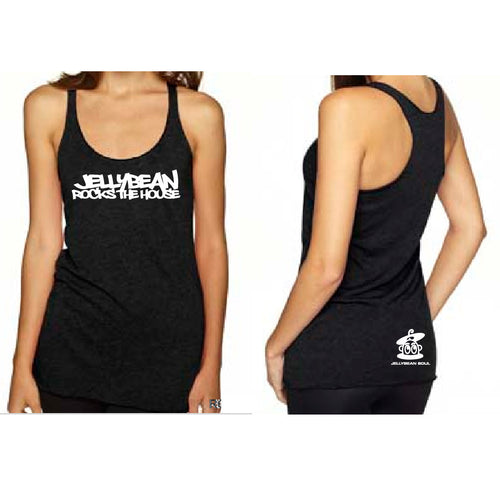 Jellybean Rocks The House Black Racer Tank Top