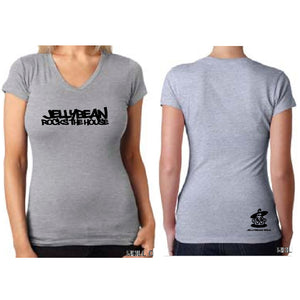 Jellybean Rocks The House Grey Fitted V Neck T Shirt