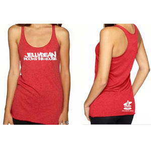Jellybean Rocks The House Red Racer Tank Top