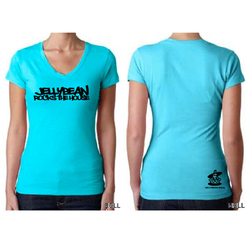 Jellybean Rocks The House Fitted V Neck T Shirt