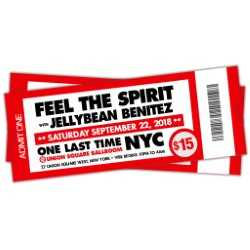 9/22 Feel The Spirit with Jellybean Benitez at Union Square Ballroom NYC ~ $15 - Closing Party