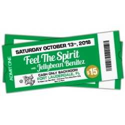 10/13 Feel The Spirit with Jellybean Benitez at Cash Only ~ the Backroom - Fort Lauderdale ~ Early Bird Ticket $15