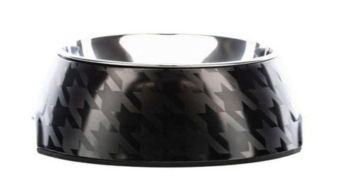 Chic Black on Black Houndztooth Bowl