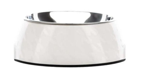 Chic White on White Houndztooth Bowl