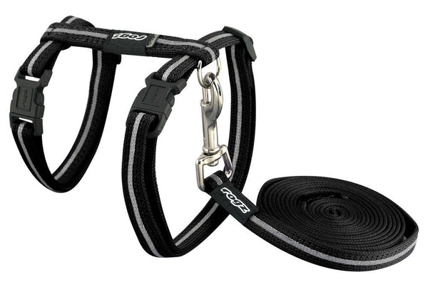 Catz Harness & Leash Black