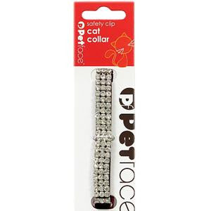 Diamante Cat Collar Black