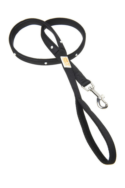 Glow Spike Black Leash