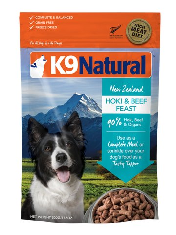 K9 Natural Freeze Dried Hoki and Beef Feast