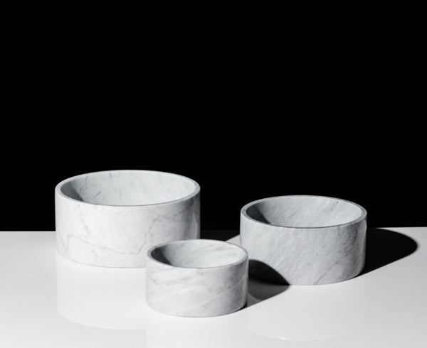 White Carrara Marble Bowl