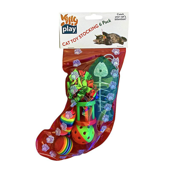 Kitty Play Xmas Stocking! - 6 Toys