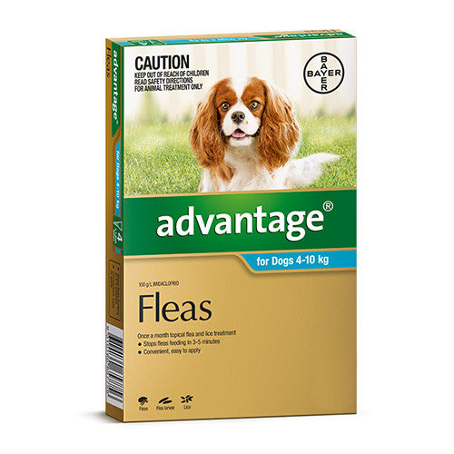 Advantage Flea  -  Dogs 4-10kg  -  4 pack