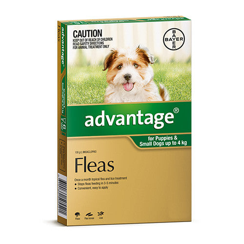 Advantage Flea  -  Dogs up to 4kg  -  4 & 6 pack