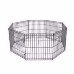 "Folding 8 Panel Exercise Pen Black 24"" & 30"""