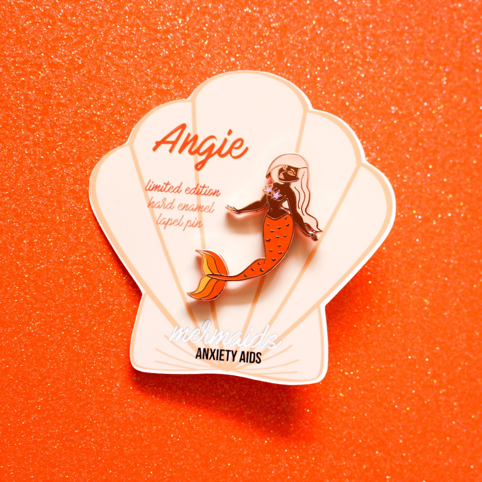 Angie Hard Enamel Lapel Pin - Mermaids 2016
