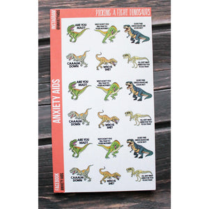 Picking a Fight Dinosaur Stickers