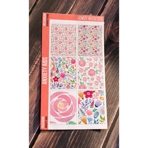 Flowery Watercolors Full Box Stickers
