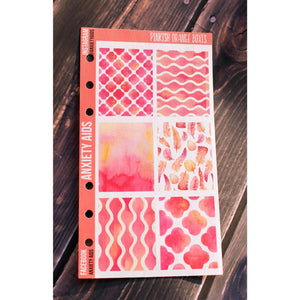 Pinkish Orange Watercolor Full Box Stickers