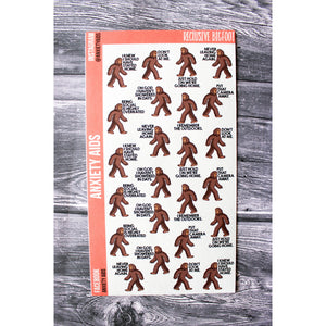 Reclusive Shut In Bigfoot Stickers