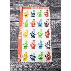 Unenthusiastic Foam Fingers Stickers
